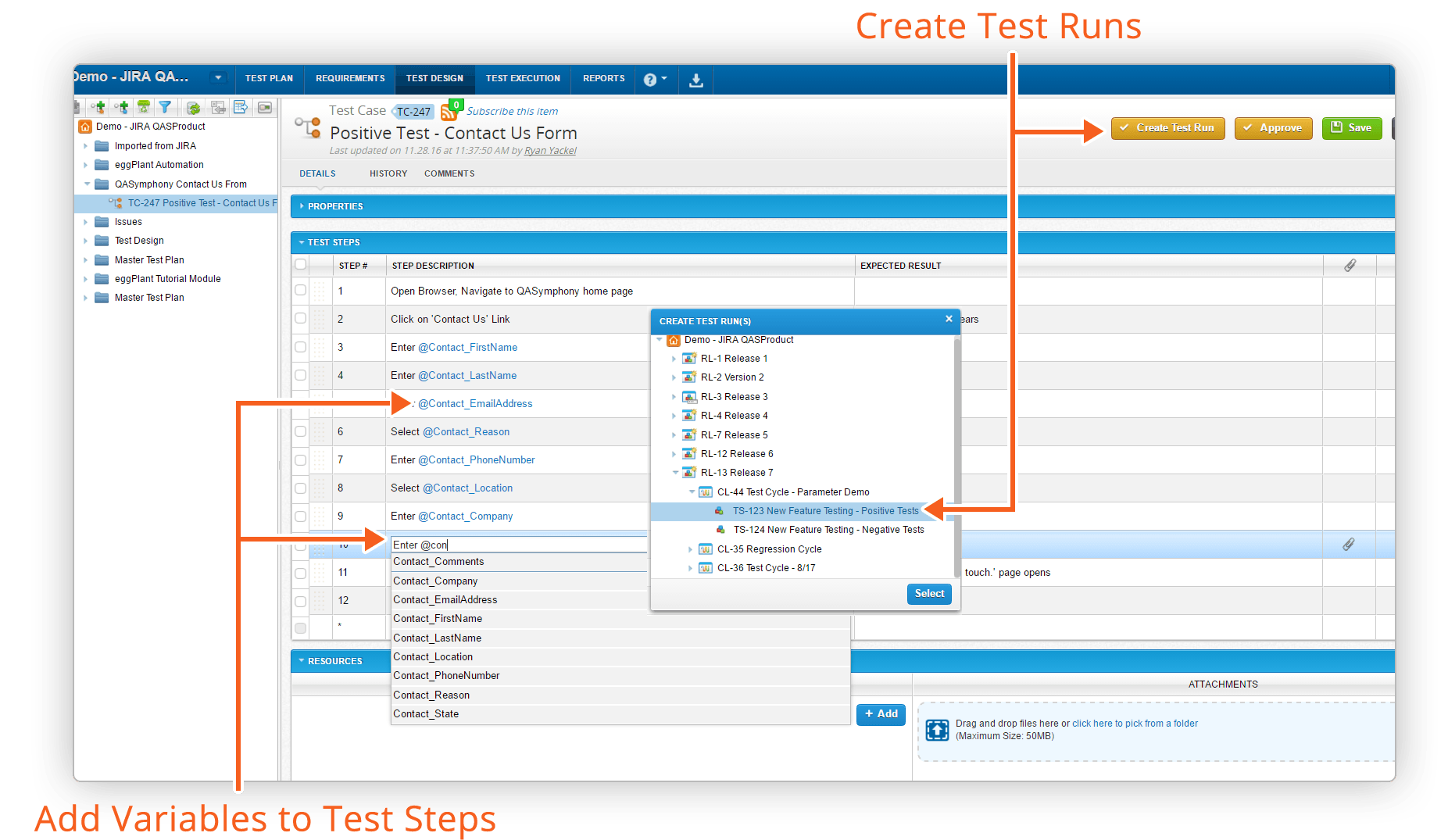 create-test-runs-with-variables