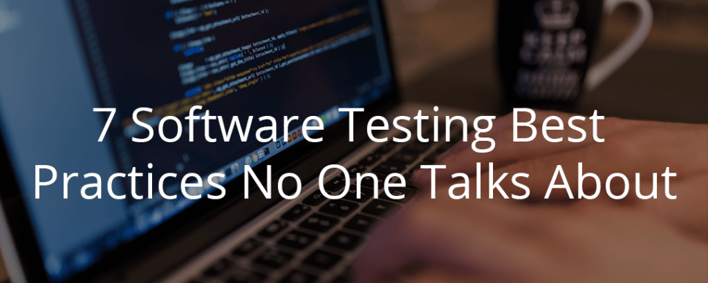 software testing best practices